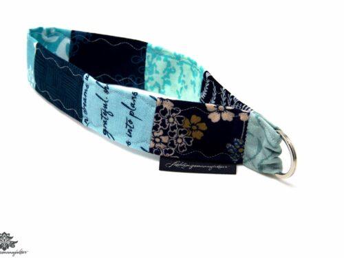Schlüsselband hellblau marine