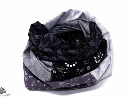 Tuch grau schwarz