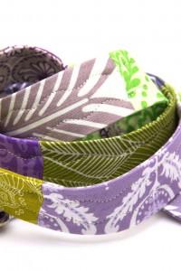 Gürtel Stoff lila grün
