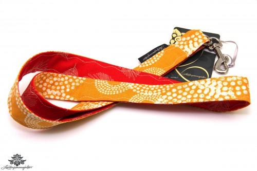 Lanyard Karabiner orange rot