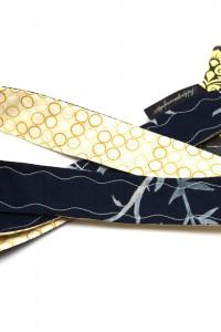 Lanyard Schlüsselband dunkelblau beige