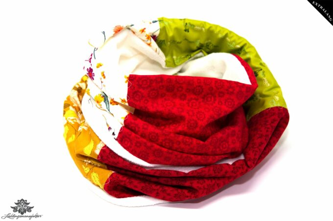 Loop Winter gelb rot grün
