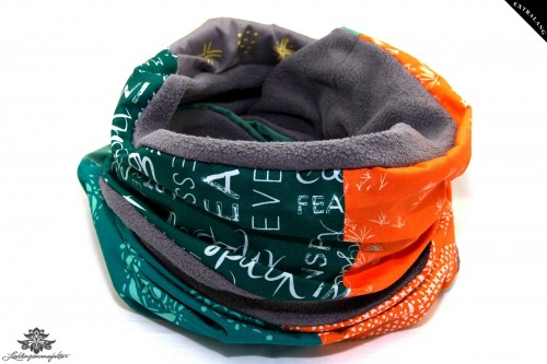 Loop Winter grün orange grau