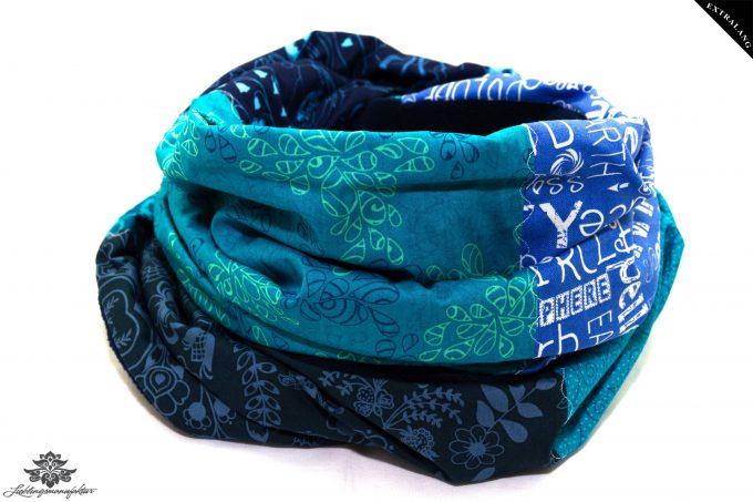 Loop Winter türkis blau