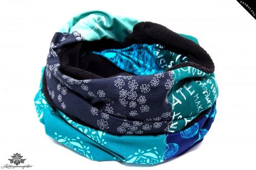 Loop Winter türkis blau grün schwarz