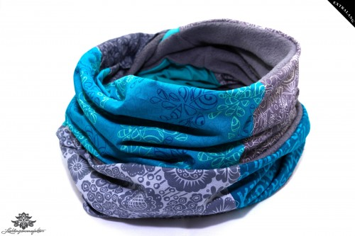 Loop Winter türkis blau grau