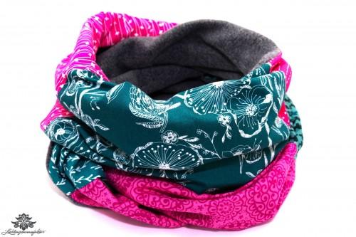 Loopschal Winter pink