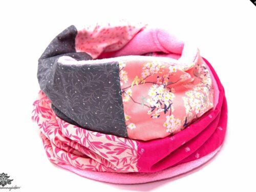 Loopschal Winter rosa