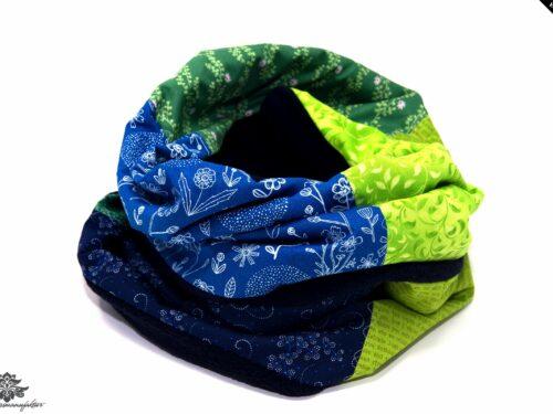 Schal Loop blau grün