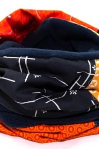 Schal Loop blau orange