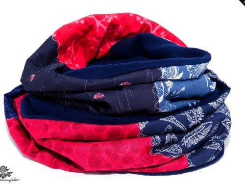 Schal Loop blau rot