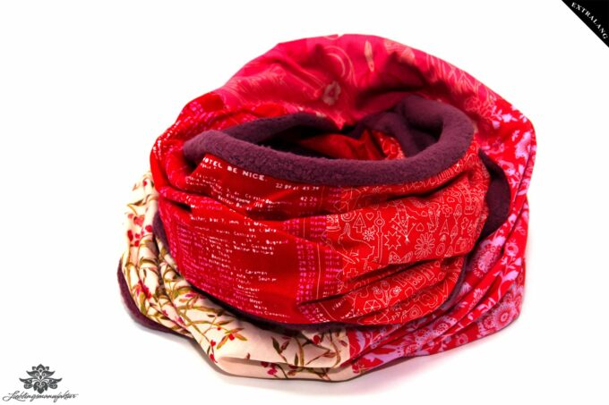 Schal Winter rot pink
