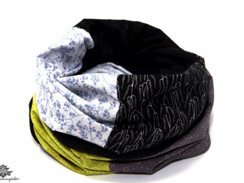 Schal Winter schwarz grau grün