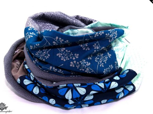 Schal blau grau