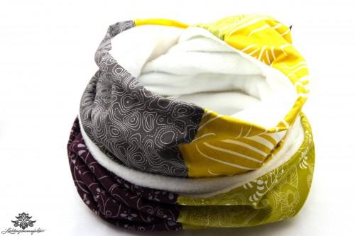 Schal gelb braun