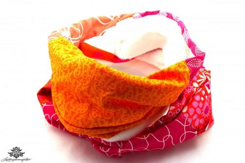 Schal orange pink