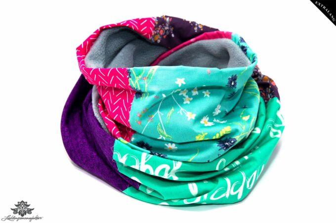 Schal pink lila mint