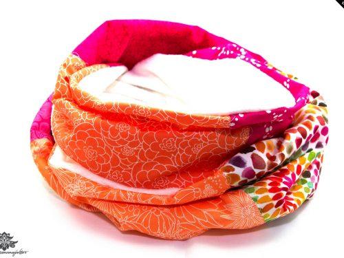 Schal pink orange