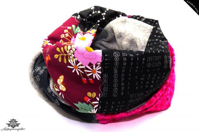 Schal pink schwarz