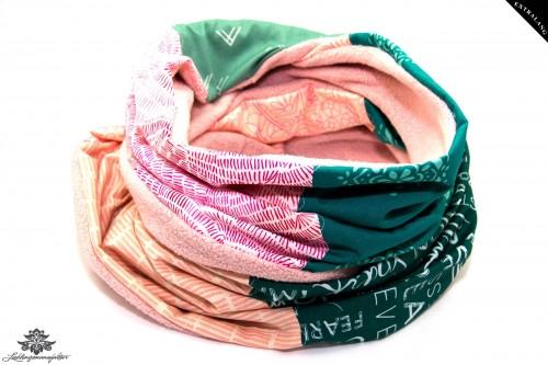 Schal rosa grün