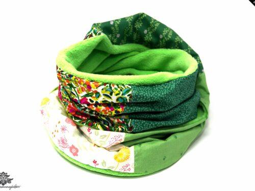 Schal weiss grün