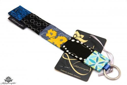 Schlüsselanhänger schwarz blau
