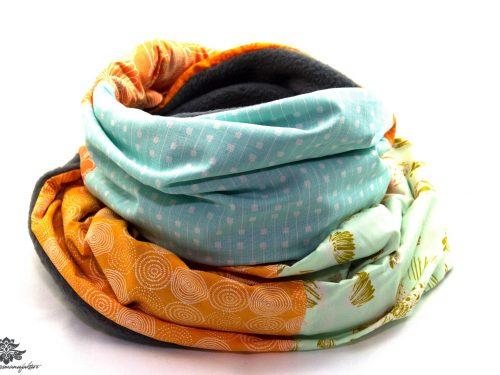 Damen Schal grau blau