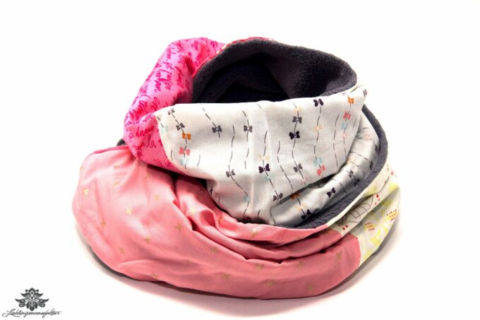 Damen Schal grau rosa