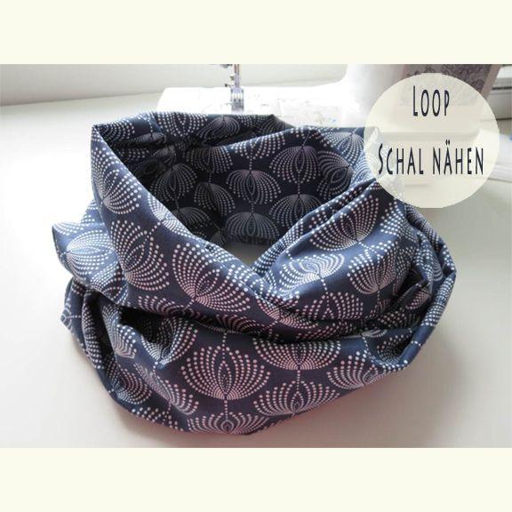 Loop Schal nähen * Loop Schals und Tücher: einzigartig farbenfrohe ...