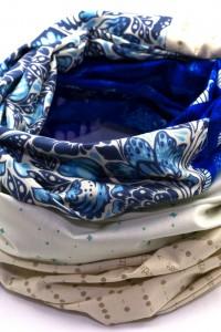 Loop beige blau