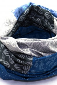Loop grau weiss blau