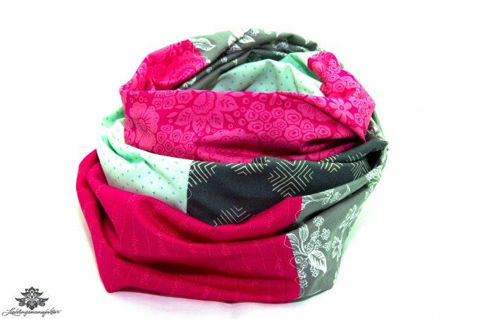 Loop mint pink grau