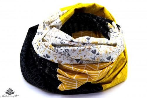 Loop schwarz gelb weiss