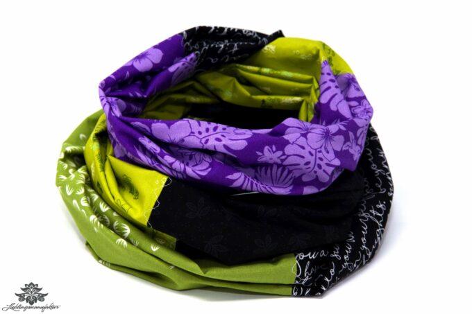Loop schwarz lila grün