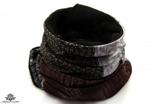 Schal schwarz braun
