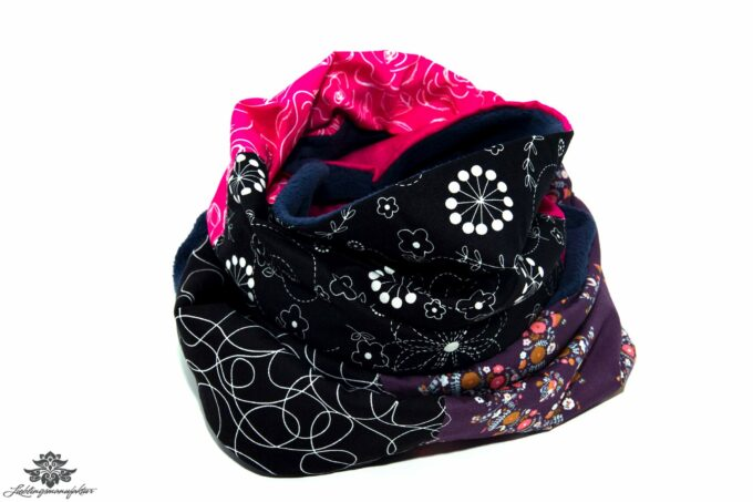 Schal schwarz bunt