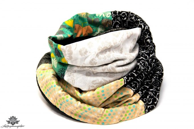 Schal schwarz weiss Damen Winter