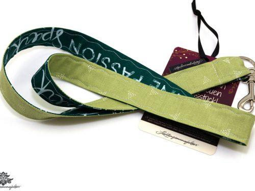 Schlüsselband Karabiner grün