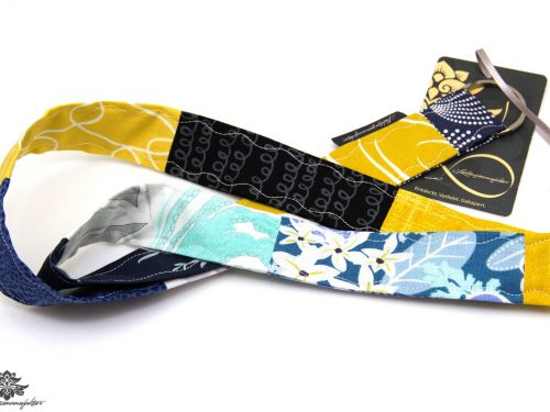 Schlüsselband Lanyard gelb blau schwarz