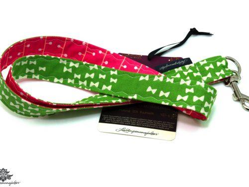 Schlüsselband Muster pink grün