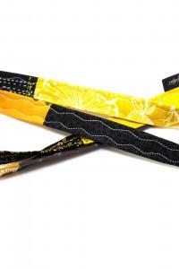 Schlüsselband Stoff gelb
