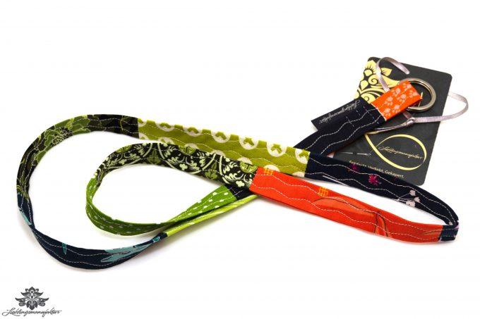 Schlüsselband Stoff grün