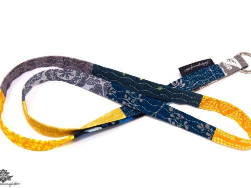 Schlüsselband blau grau