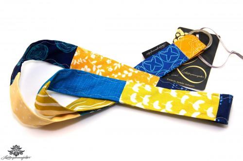 Schlüsselband gelb blau