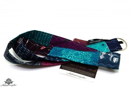 Schlüsselband türkis blau lila