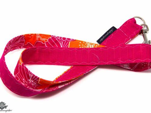 Schlüsselband Muster pink orange