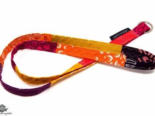 Schlüsselband Stoff orange