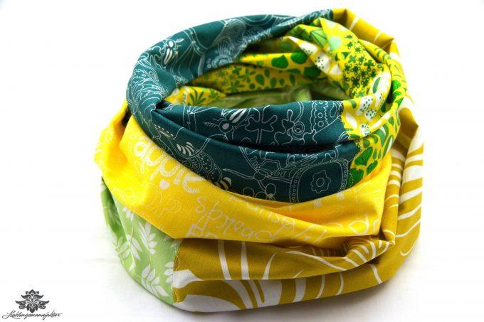 Tuch gelb grün