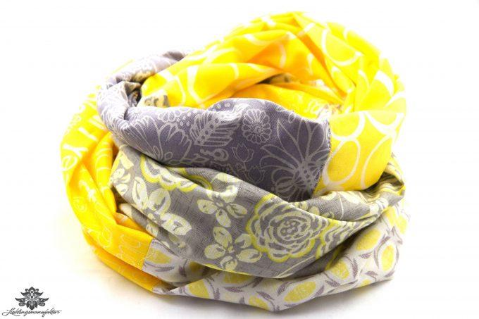 Tuch gelb grau