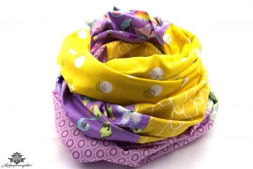 Tuch gelb lila